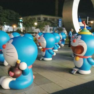 Doraemons at I'Park Mall! >_<