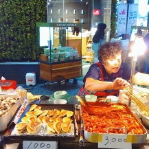 My favorite Korean streetfood is fishcake! This is located in front of Nature Republic in Myeongdong.
