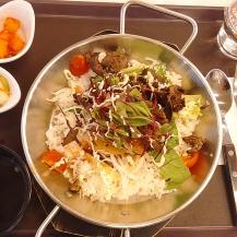 Dinner at the foodcourt of Doota in Dongdaemun