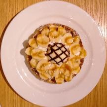Banana waffle at Thanks Nature Cafe