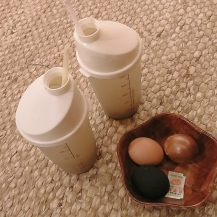 Sikhye and hard-boiled eggs at Dragon Hill Spa. A must-try when at a jjimjilbang!