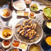 Jeju's famous black pork near Mido Hostel