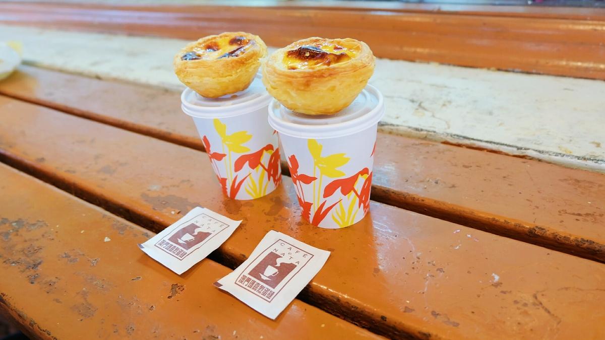 Margaret's Cafe E Nata's egg tart and milk tea